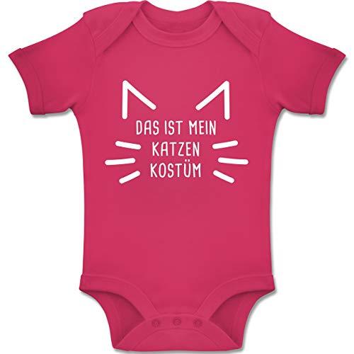 Kostüm Baby Kater - Shirtracer Karneval und Fasching Baby - Das ist Mein Katzen Kostüm - 12-18 Monate - Fuchsia - BZ10 - Baby Body Kurzarm Jungen Mädchen