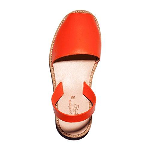 Minorquines - Sandales Avarca Cuir Naranja - Femme Orange