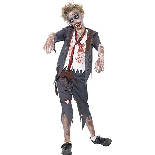 Halloween Kinder Kostüm Zombie Schüler Schuljunge Gr.10 bis 12 (Kostüm Schuljunge Halloween)