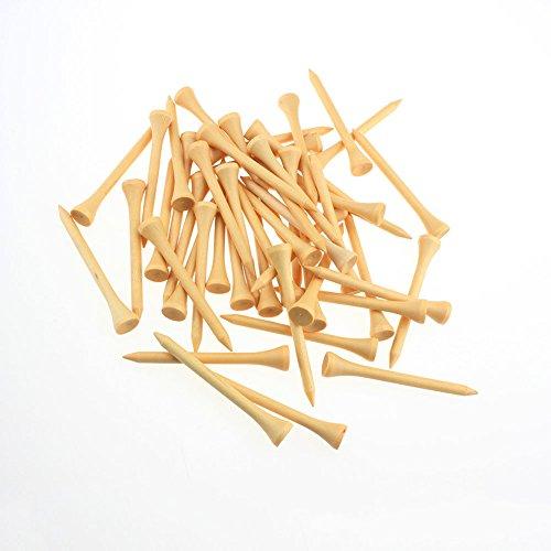 Crestgolf 70mm de long (23/10,2cm) en bois tees de golf ---- de 75, bois couleur