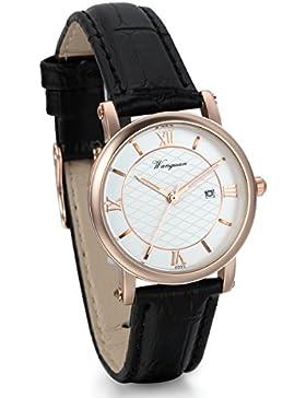 JewelryWe Damen Freundschafts Armbanduhr, Business Casual Kalender Analog Quarz Uhr für Lieben Valentinstag Paar...