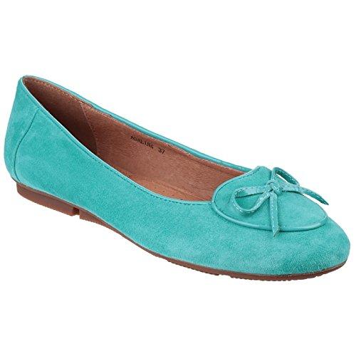 Riva Mujer / Damas Adalina - Zapatillas De Ballet En Color Liso - Mujer Azul Marino / Blanco