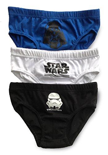 Jungen Unterhosen/Slips, Unterwäsche, Baumwolle - 3er-Pack (6-7 Years (116-122cm), Star Wars - Design 5)