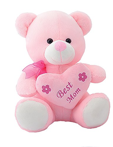 Dimpy Stuff Best Mum Bear With Heart, Pink (33 cm)  available at amazon for Rs.359