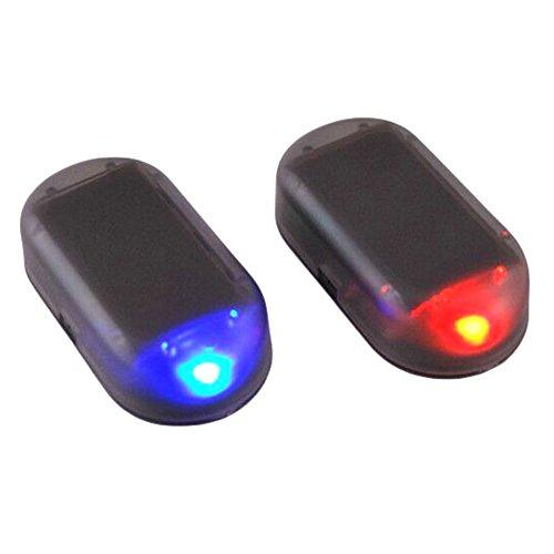 ALTcompluser Alarmanlage Auto, Solarladung Sicherheitsalarm Dummy Imitation Car Alarm LED Licht Sicherheitssystem Warnung Diebstahl Flash Blinken Sicherheitsposten Vorsicht Blitz (H02)