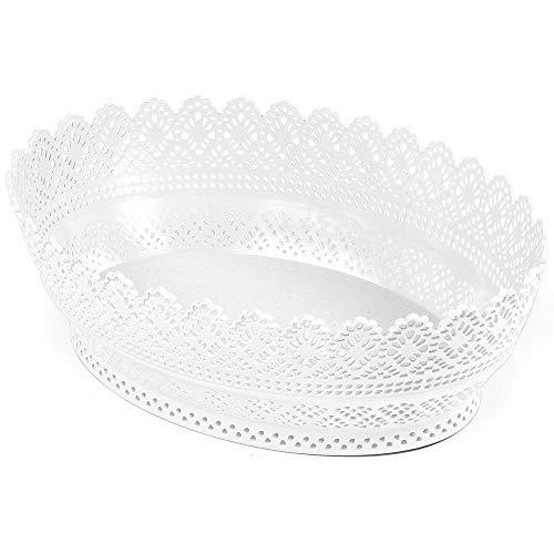 Panier de décoration ovale blanc
