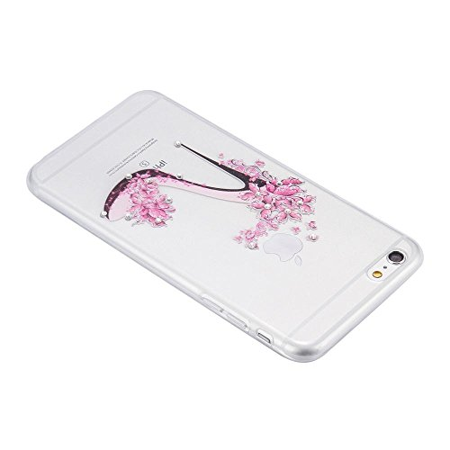 ECENCE APPLE IPHONE 6 6S (4,7) SLIM TPU CASE SCHUTZ HÜLLE HANDY TASCHE COVER TRANSPARENT DURCHSICHTIG CLEAR 12020501 Schuh