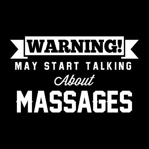 Warning May Start Talking About Massages Women's T-Shirt Black