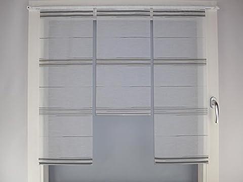 Miniflächen-Set anthrazit schlamm grau als Scheibengardine