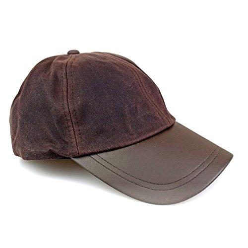 Wachscap | aus 100% gewachster Baumwolle, wind und wasserdicht | Farbe: Braun | One Size