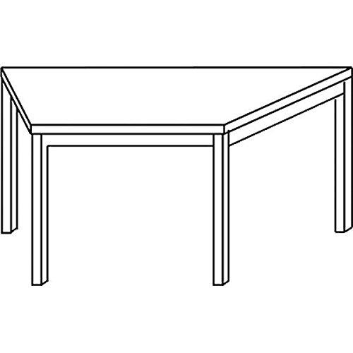 Konferenztisch mit Rund-Rohr schwarz DORAN 160 x 69cm Ahorn