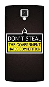 The Racoon Grip The Government hard plastic printed back case / cover for Lenovo A1000