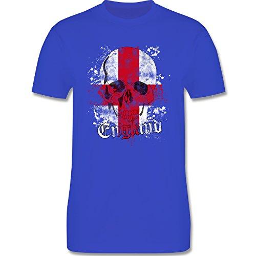 EM 2016 - Frankreich - England Schädel Vintage - Herren Premium T-Shirt Royalblau