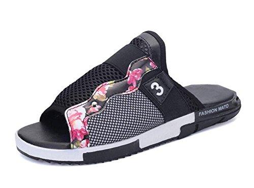 Glter Sandales À Bout Ouvert Chaussures D'été New Beach Chaussures Cool Sandales Fashion Personnalisées Black
