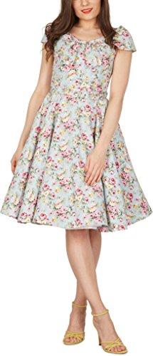 Black Butterfly 'Cynthia' Vintage Amity Kleid im 50er-Jahre-Stil (Himmelblau, EUR 52 – 5XL) - 5