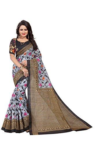 Kanchan Women's Silk Saree (Black)