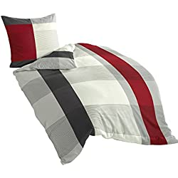 Bierbaum Bettwäsche 4643, Mako-Satin, Made in Germany, grau 14, 135x200 + 80x80 cm