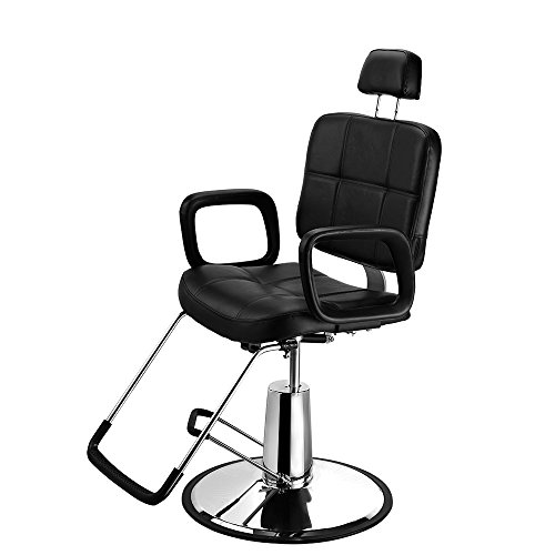 Seababyhouse Reclining Barber Chair Styling Salon Tattoo Beauty Shampoo Hairdressing Threading Spa Equipment Adjustable Chairs Stool