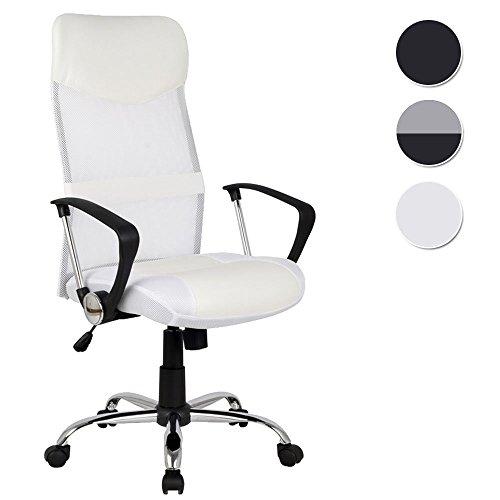 SixBros. Design - Sillón de oficina Silla de oficina Silla giratoria blanca - H-935-6/1320
