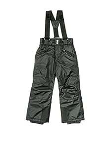 U-topik - Telos noir pant ski jr - Pantalon de ski surf - Noir - Taille 4ans