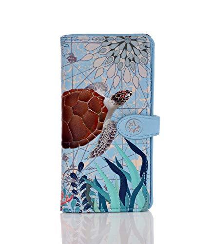 Shagwear Damen Geldbörse Schildkröte - Blau - Einheitsgröße
