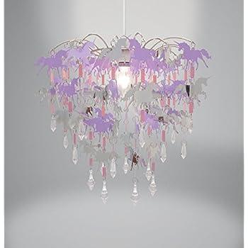 Unicorn children ceiling lights bedroom chandelier pink purple and unicorn children ceiling lights bedroom chandelier pink purple and silver light shade lamp ceiling pendant light aloadofball Images