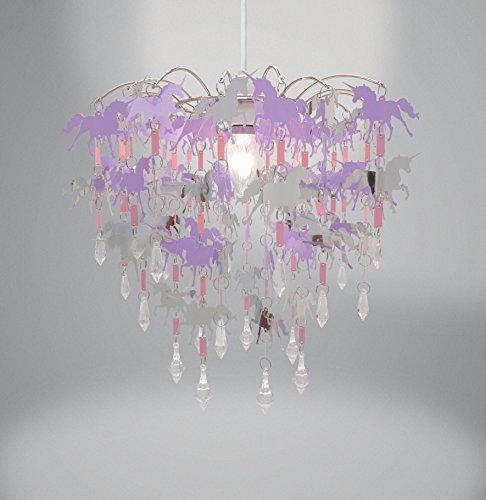 Unicorn children ceiling lights bedroom chandelier pink purple and pendant light shade nursery children bedroom 35 on sale aloadofball Gallery