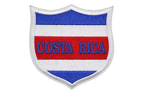 Parche bordado bandera Costa Rica 3 Accesorio recuerdo