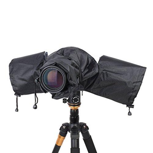 Housse de pluie pour caméra, Jayboson Professionnel Housse de pluie pour caméra étanche Lens Protecteur Camera Rain Cover Protection Protégez votre caméra contre la pluie saleté sable neige, convient à Canon, Nikon, Sony Et d'autres caméras SLR numériques