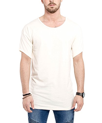 Phoenix Medium Oversize Drop Shoulder T-Shirt Herren Longshirt Beige