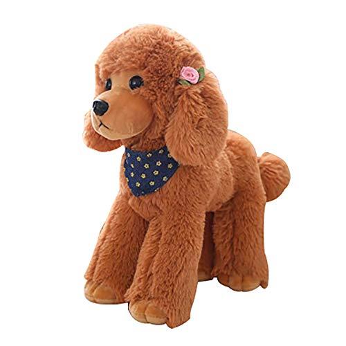 Braun Lagerung Couch (TLfyajJ Plüsch realistische Teddy Hund Tier Puppe Stofftier Geschenk Stuhl Couch Sofa Dekor Braun 25cm)