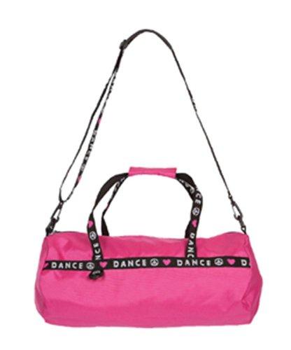 capezio-b81-bolsa-de-deporte-diseno-con-texto-dance-rosa-hot-pink-tallatalla-unica