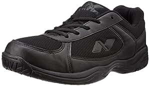 Nivia Mesh PVC School Shoes, Men's 6 UK (Black)