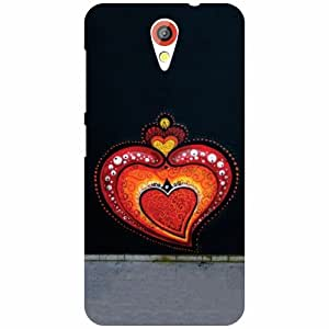 Htc Desire 620-Heart Shaped Matte Finish Phone Cover