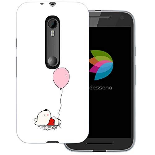 dessana Teddybären Transparente Schutzhülle Handy Case Cover Tasche für Motorola Moto G3 Teddy mit Luftballon (Handy Cover Für G3)