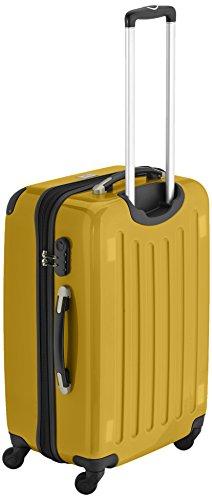 HAUPTSTADTKOFFER - Alex - 2er Koffer-Set Hartschale glänzend, 65 cm + 55 cm, 74 Liter + 42 Liter, Graphit-Blau Champagner-Gelb