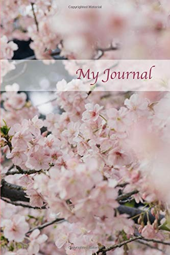 My Journal. Cherry Blossom Cover Design. Blank Journal Notebook Planner Diary. - And Body Beautiful Works Day Von Bath