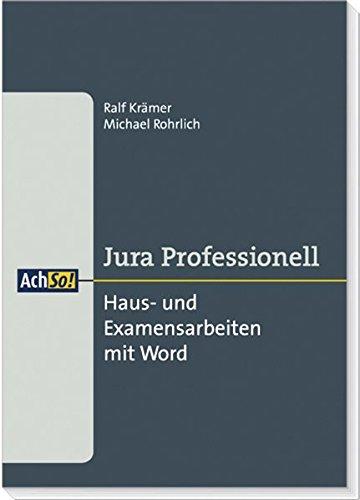 Haus- und Examensarbeiten mit Word