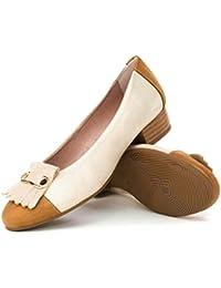 PITILLOS Zapato Salón Copete Flecos 5040 Beige