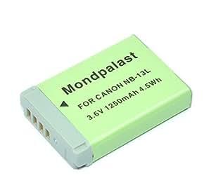 Mondpalast ® Remplacement Batterie NB13L NB-13L nb13l 1250mah 3.6V infochip CB-2LHE pour Canon PowerShot G7X G7 X , pas pour G7x mark II