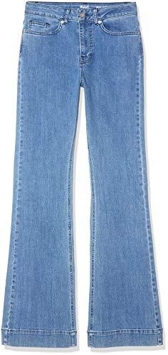 find. High Rise_AMZ090103 Flared Jeans, Blau (MID BLUE), 38 (Herstellergröße: W30 x L32) Hose Flare Jeans