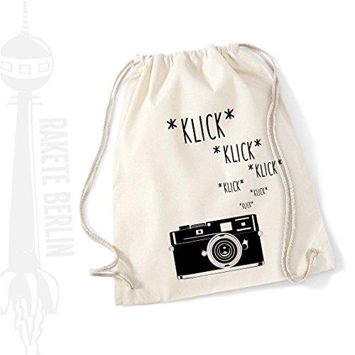 Turnbeutel Rucksack Baumwolle ' Kamera - klick klick klick ' (Vintage Canon-film-kamera)