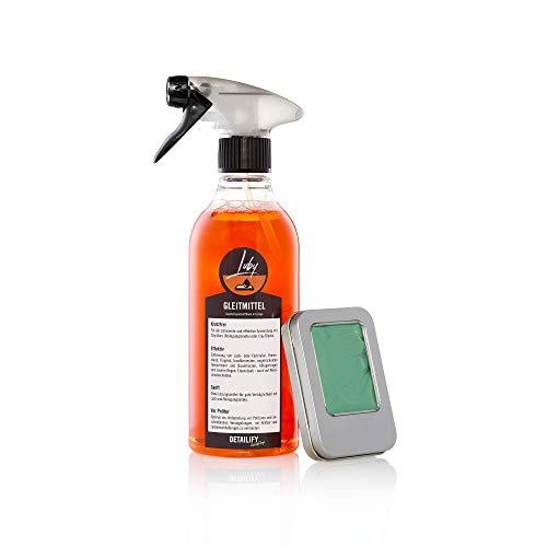 Detailify Clay Lube Gleitmittel Luby 500ml + Clay Bar Auto Reinigungsknete Bary Knete Lack Lackknete Set für Entfernung von Insekten Detailing