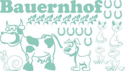 Pared Adhesivo decorativo para Granja vaca perro gato Herradura Caracol, 055...