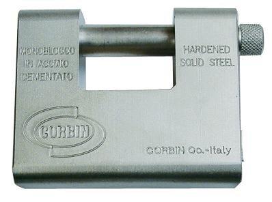 Lucchetto Sicurezza per Serranda Monoblocco 84mm Corbin mod. Grizzly art. 431.85