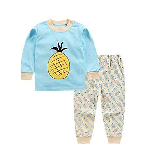 Kewing Säuglingsbaby-Mädchen-Klage-Jacken-Pyjamas T-Shirt + Hosen Panda-Drucken-Hauptkleidung 0-4 Jahre Alt A110cm