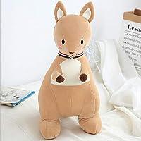 lzpoyaya Cartoon Soft Kangaroo Plush Toy Doll, Stuffed Animals Kangaroo Toys Pillow, Birthday for Children 45cm (Yellow)
