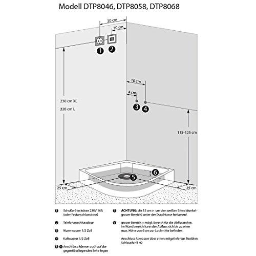AcquaVapore DTP8058-5002 Dusche Dampfdusche Duschtempel Duschkabine 90x90 XL, EasyClean Versiegelung der Scheiben:2K Scheiben Versiegelung +89.-EUR - 5