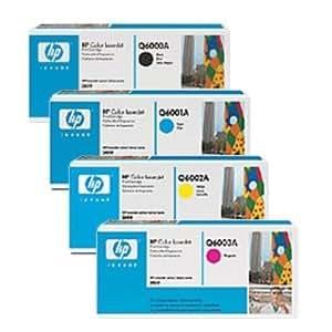 4 HP d'origine Toner Cartouches HP Q6000A Q6001A Q6002A Q6003A - Noir, Cyan, Magenta, Jaune