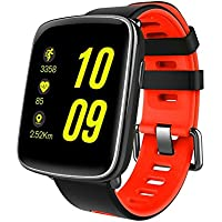 Mindkoo Watch GV68 Orologio impermeabile IP68 Smart Watch con monitor della frequenza cardiaca Sport Smart Watch Touch Screen Monitoraggio del sonno Pedometro per Android / Apple iOS